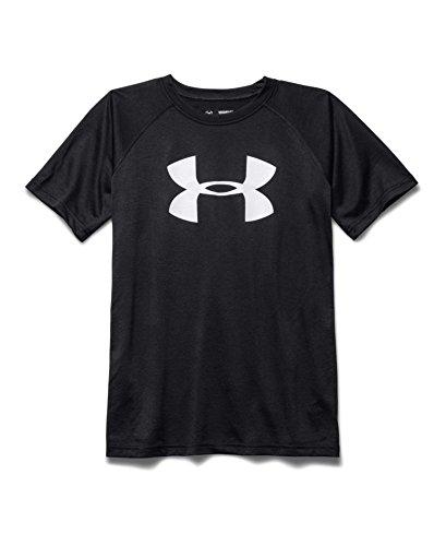Under Armour Boys Tech Big Logo Short Sleeve Tee, Black (001), X-Large