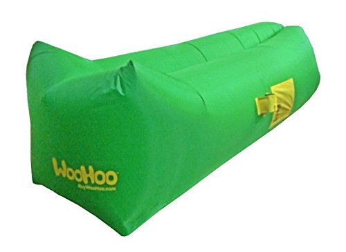 WooHoo™ -Inflatable Lounger Air Filled Balloon Furniture with Carry Bag. Inflates in Seconds. Hangout as Lounge Chair, Lamzac Bean Bag, Air Hammock, Sofa, Couch, Kaisr Original Air Bag (Green)