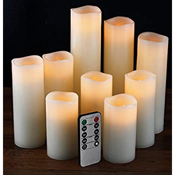 comenzar Flameless Candles, Battery Candles Set of 9(H 4