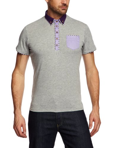 GUIDE LONDON SJ.3775 Polo Shirt Men's Top Grey X-Large