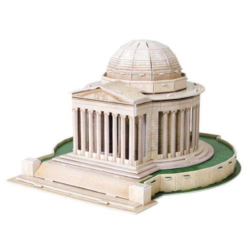 Dimart Educational 3D Model Puzzle Jigsaw Thomas Jefferson Memorial DIY Toy 35PCS - 1