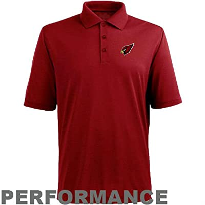 Majestic Arizona Cardinals Adult 5X-Large 5XL Performance Short Sleeve Polo Shirt - Red