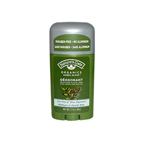 Natures Gate Tea Tree and Blue Cypress Deodorant Stick 1.7 Oz ( Multi-Pack)