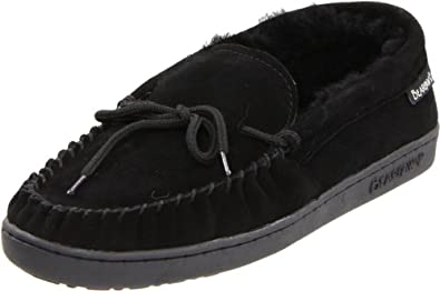 BEARPAW Women's Moc II Moccasin,Black,5 M US