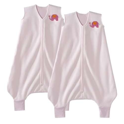 HALO Big Kids SleepSack, 2 Pack, 4-5T, Pink Elephant