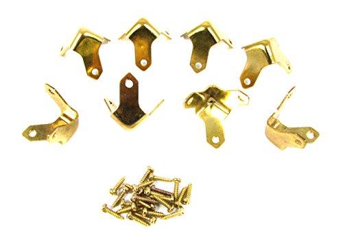 8pc. Small Brass Box & Trunk Corners