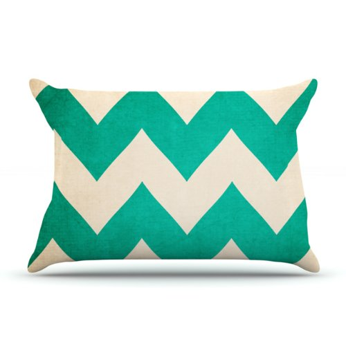 Kess InHouse Catherine McDonald 2013 Teal Chevron 30 by 20-Inch Pillow Case, Standard kess v2 sw2 32 hw4 036 kess v5 017 obd2 manager tuning kits no token limited kess 5 017 use online ecu programmer master version