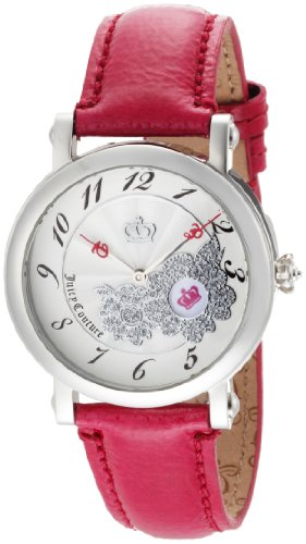 Juicy Couture Women's 1900668 Rotating Disc Pink Patent Leather Strap Watch
