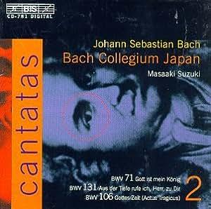 Bach : Cantates sacrées volume 2 BWV 71, 131, 106