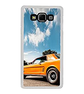 ifasho Orange colour Car Back Case Cover for Samsung Galaxy A8
