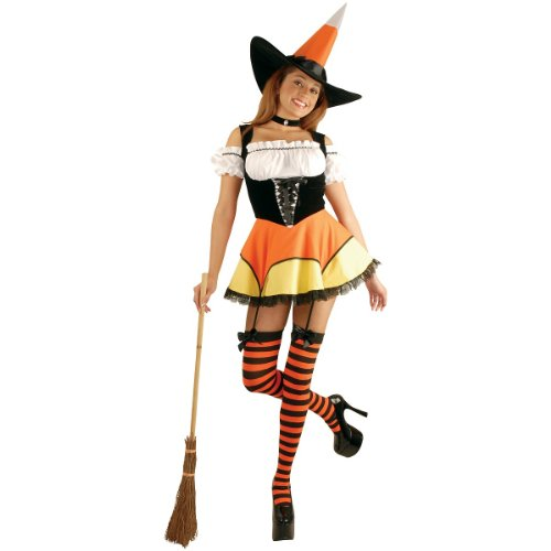 Candy Corn Witch Costume - Large - Dress Size 11-13