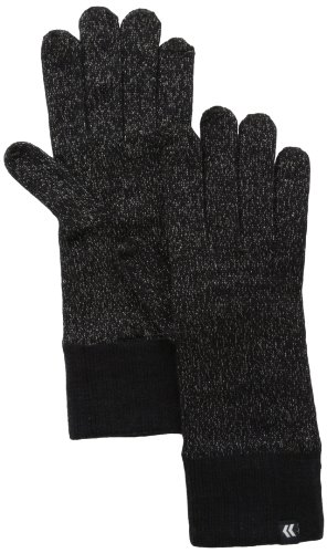 Isotoner Women'S Allover Smartouch Knit Glove, Black, One Size