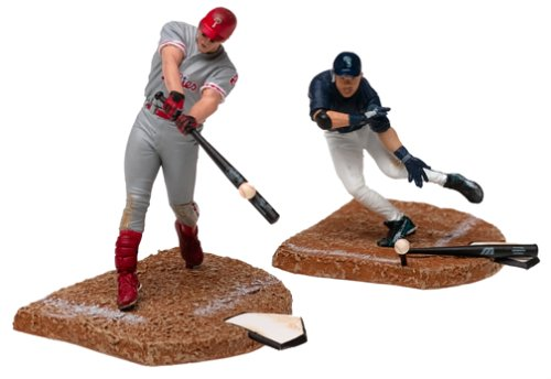 "McFarlane SportsPicks MLB Mini-Figures: 3"" Ichiro and Jim Thome 2-Pack"