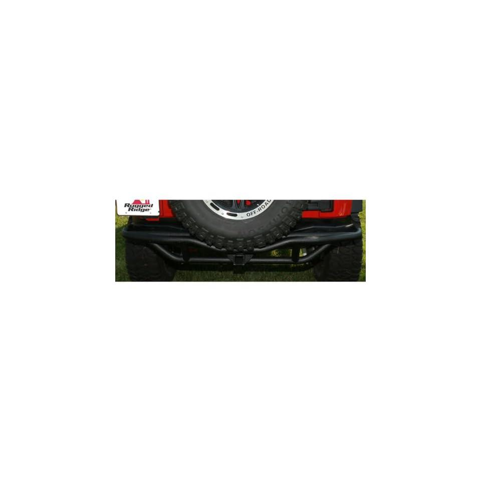 Rugged Ridge 11503.15 RRC Rock Crawling Textured Black Rear Bumper with Hitch Automotive