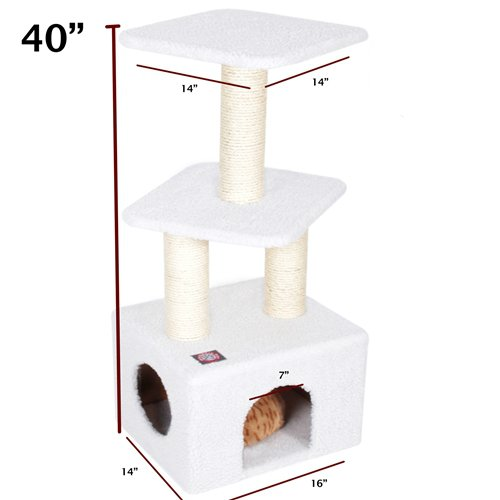 Majestic Pet 40-Inch Bungalow Sherpa for Cats