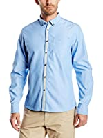 Springfield Camisa Hombre Tape Contrast (Azul)