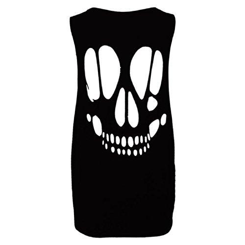 Pure Fashion -  T-shirt - Senza maniche  - Donna Black - Baggy Oversized Loose