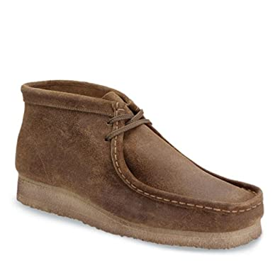 Clarks Men's Wallabee BT Taupe Distressed 6 M US