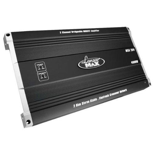 Lanzar Mxa254 4000 Watt 2 Channel Bridgeable Mosfet Amplifier