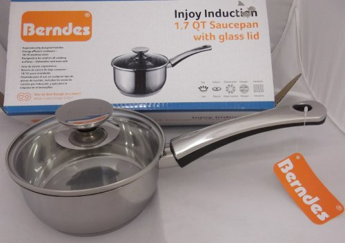 Berndes Injoy Induction 1.7 Qt Saucepan With Glass Lid