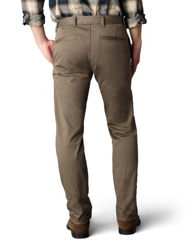 Dockers Men's Alpha Khaki Slim Flat-Front Pants