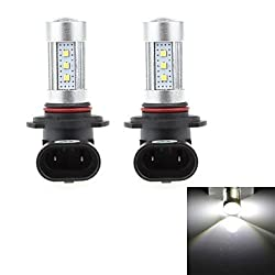 See HJ 9005 15W 1300lm 6500-7000K 15xSMD LED Cool White Light Bulb for Car Fog Light (12-24V, 2Pcs) Details