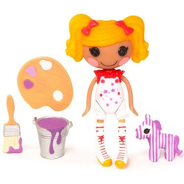 Mini Lalaloopsy 3 Inch Figure with Accessories Spot Paints Purple - 1