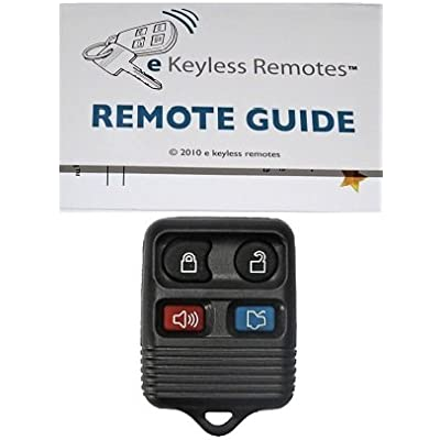 1998-2009 Lincoln Town Car Keyless Entry Remote Fob Clicker With Free Do-It-Yourself Programming and Free eKeylessRemotes Guide