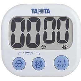 TANITA デジタルタイマー でか見え ホワイト TD-384-WH