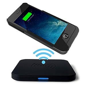 choetech chargeur sans fil qi pour iphone 5 5s avec un port mini usb coque et tapis de. Black Bedroom Furniture Sets. Home Design Ideas