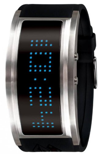 Black Dice Men's Guru Front Multicolored LED Watch BD 060 01 With 7 Individual Coloured Options