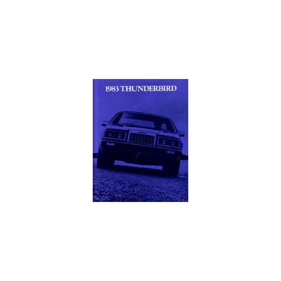 1983 FORD THUNDERBIRD Sales Brochure Literature Book Automotive