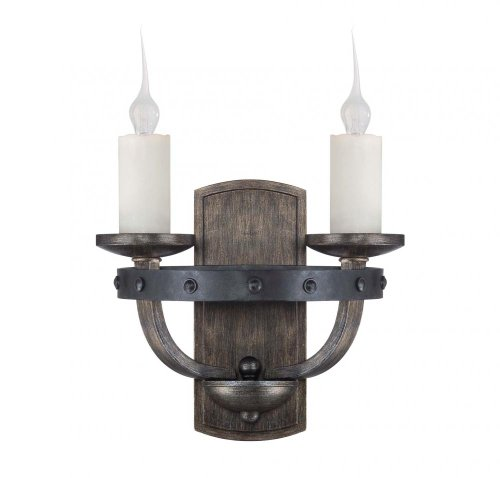 Two Light Reclaimed Wood Wall Light-Savoy House 9-9535-2-196 (Savoy House Alsace compare prices)