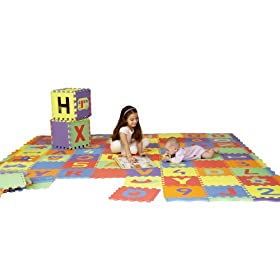 Edushape Edu Tiles Uppercase Letters Playmat, 26 Piece Set