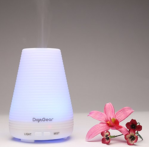Essential Oil Diffuser 100ml - Aroma Humidifier with 7 Color LED Lights - Aromatherapy Diffuser Ultrasonic Whisper Quiet Cool Mist - Auto Shut Off for Home or Office - PBA Free (Room Steam Humidifier compare prices)