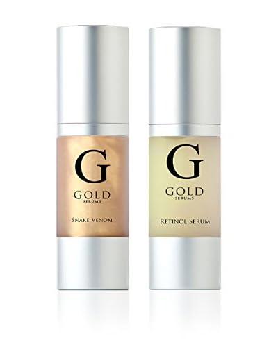 Gold Serums Viso Royal 3rd Siero Antirughe Al Veleno Di Serpente + Nuovo Siero Anti-Invecchiamento A...