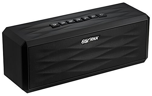 SHARKK-Bluetooth-40-BoomBox-Speaker-18-Hour-Playtime-10-Watt-Portable-Speaker-System-4400-mAh-Li-ion-Battery-Ultra-Bass-Subwoofer-Sound-Effect-Built-In-Mic-For-Calls-NFC-Function-For-All-iPhone-iPhone