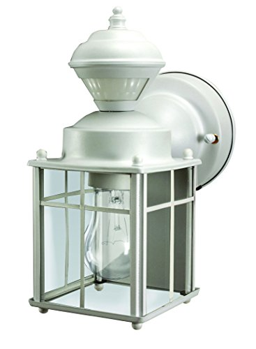 Heathco HZ-4132-MW White Bayside Mission Style Motion Activated Lantern (Mission Outdoor Wall Light compare prices)