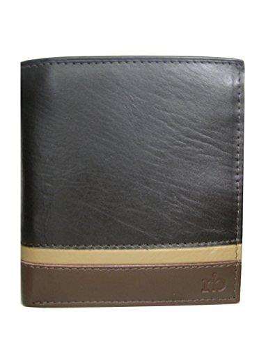 portafoglio piccolo con portamonete in pelle marrone