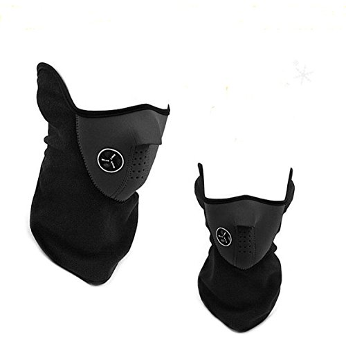 MENGDA Fashionable Superb Full Protection Face Mask with Brilliant Air Ventilation System Premium Microfiber Polyester and Neoprene (Black) (Full Face Air System compare prices)