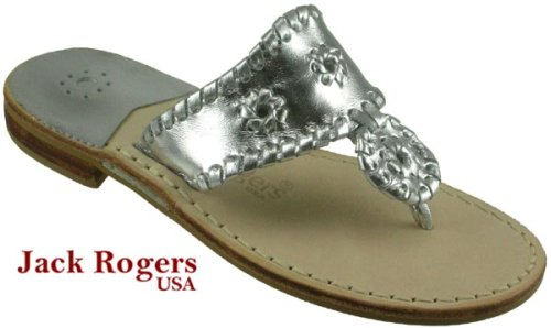 cd564bf28053f Jack Rogers Navajo Women s Silver Leather Thong Sandals Sale Jack Rogers  Navajo-original design of famous thong sandals by Jack Rogers.