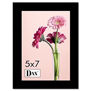 DAX 1826H3T Solid Wood Photo/Picture Frame, Easel Back, 5 x 7 Inches, Black