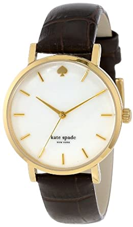 kate spade new york Women's 1YRU0311 Watch with Brown Leather Band