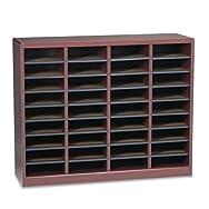 Wood/Fiberboard E-Z Stor Sorter, 36 Sections, 40 x 11 3/4 x 32 1/2, Mahogany