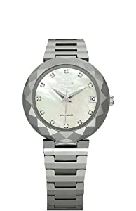 Jowissa Women's J1.176.M Soletta Mother-of-Pearl Dial Tungsten Bracelet Date Watch