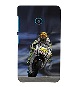 EPICCASE the racer Mobile Back Case Cover For Nokia Lumia 530 (Designer Case)