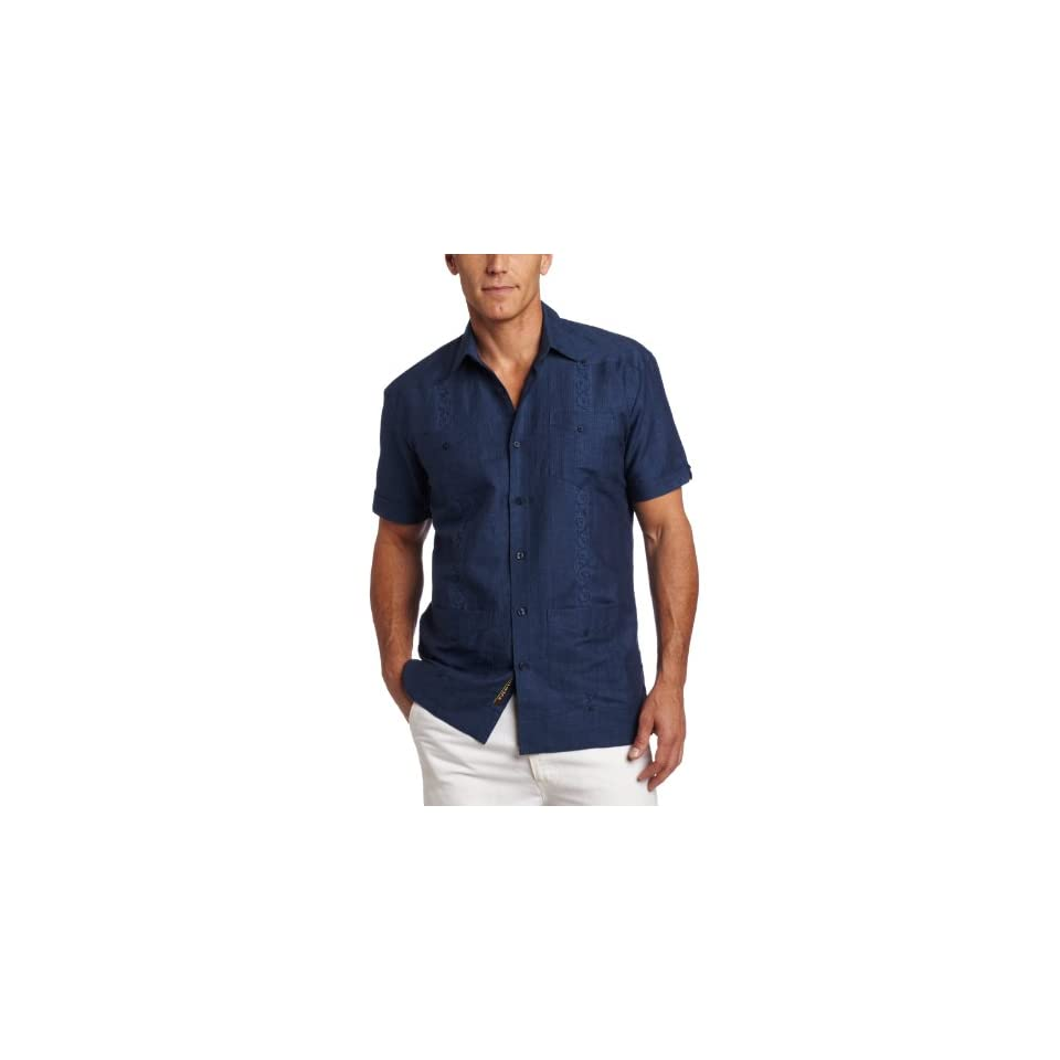 a5cf8619b0 Cubavera Mens Short Sleeve Stripe Guayabera Shirt