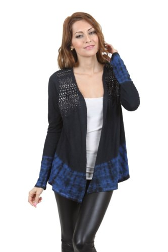 SALE! Vocal Apparel Special Dyed Long Sleeve Studded Cardigan