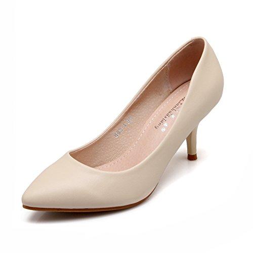 2016Spring Chaussures/talons couleur nude/chaussures pointues beaux avec un seul/chaussures professionnelles avec le mariage