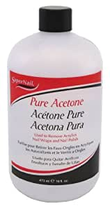 super nail Pure Acetone, 16 Fluid Ounce